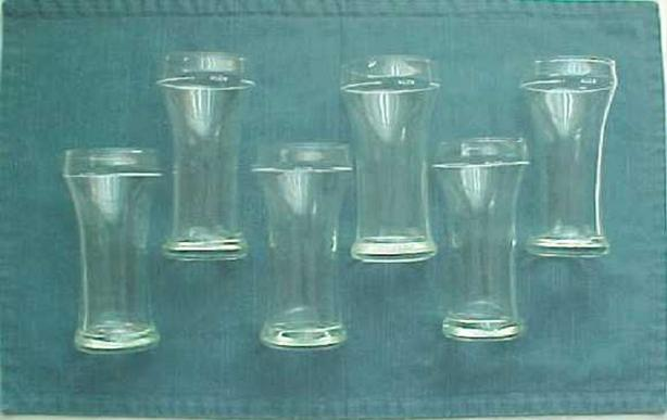SET OF SIX ALCB BEER GLASSES