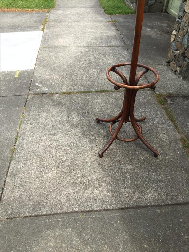 Rear bentwood antq coat stand