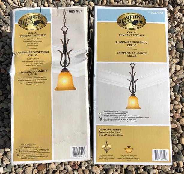***REDUCED - Two Cello Pendant Light Fixtures For Sale - Brand New!