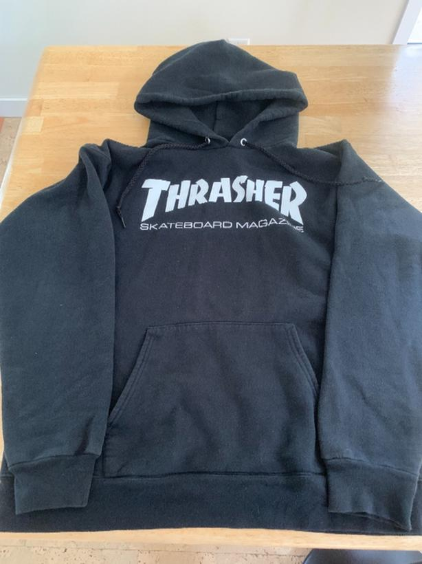 THRASHER BLACK SWEATSHIRT SIZE S