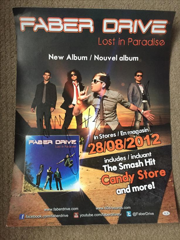 Autographed Faber Drive Poster