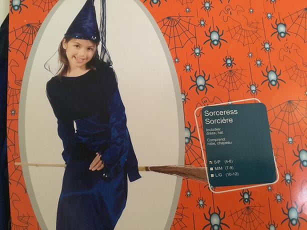 Sorceress Costume - Child 4-6 years old - NEW