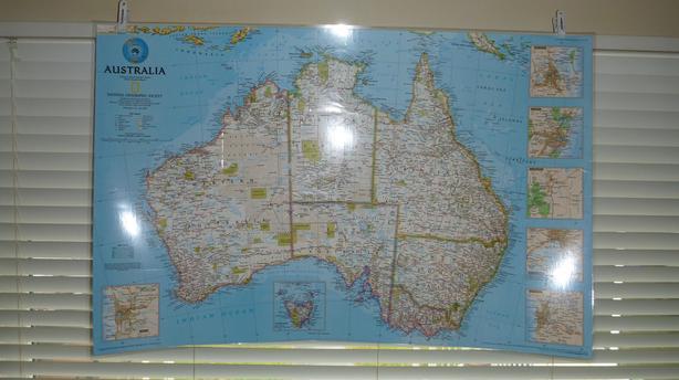 Wall Maps (Laminated/Encapsulated)