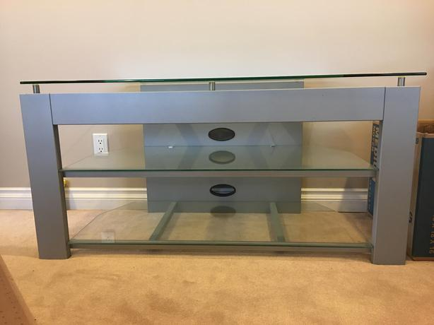 """All Glass TV stand for up to 65"""""""