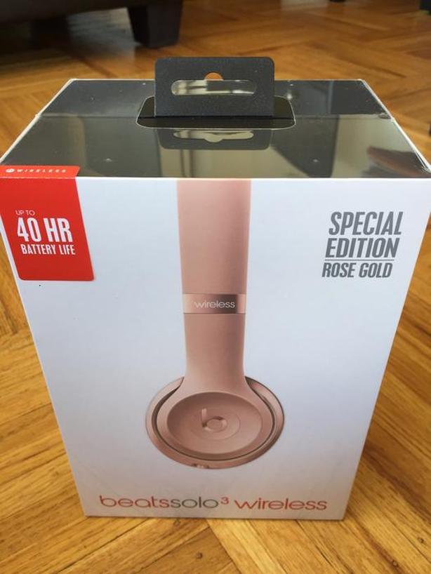 Beats Solo3 Wireless Headphones - Rose Gold SEALED BNIB
