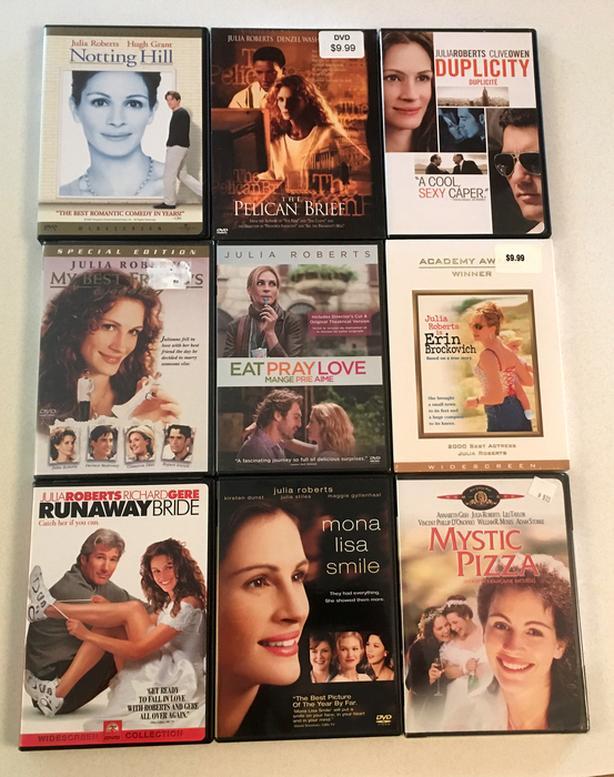 Julia Roberts & Sandra Bullock DVD's
