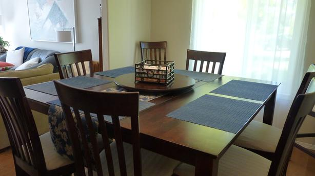 """36"""" H Table and 8 Chairs"""