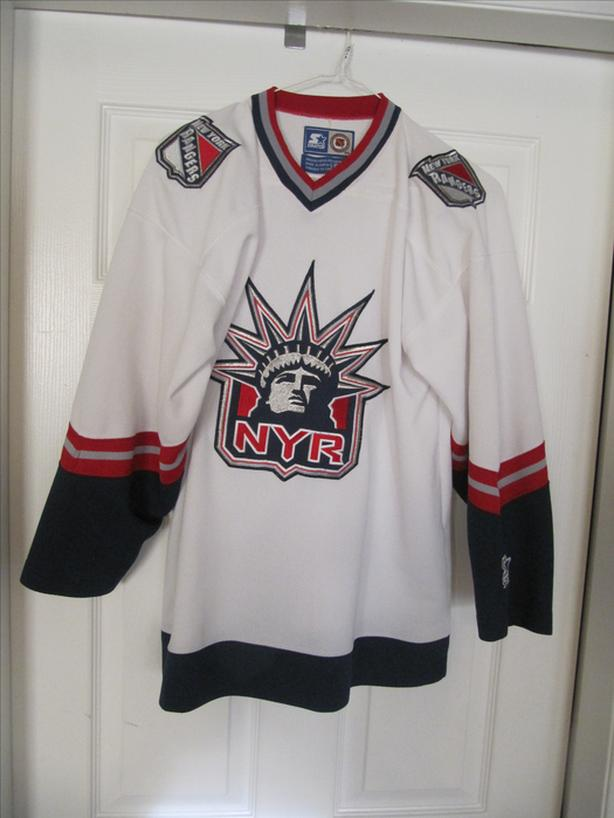 wholesale dealer 9cfe7 663d2  Log In needed $125 · 1996-2007 NY Rangers Alternate Liberty Starter  Liberty Jersey. All Stitched L/XL