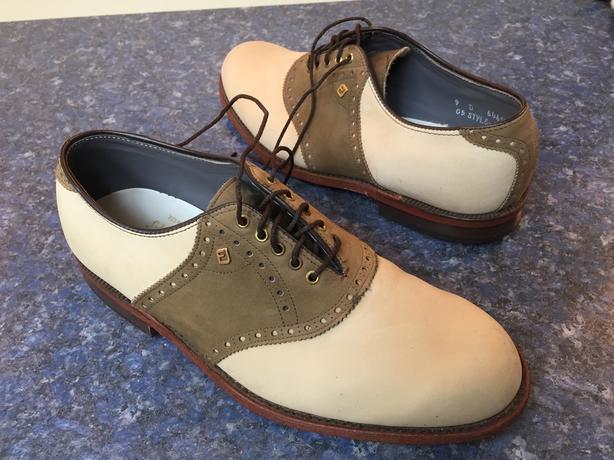 Footjoy Classic leather 2-tone golf shoes - size 9C