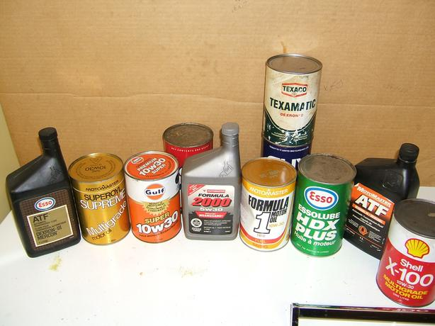 NEW OLD-STOCK MOTOR OIL AND TRANNY FLUID