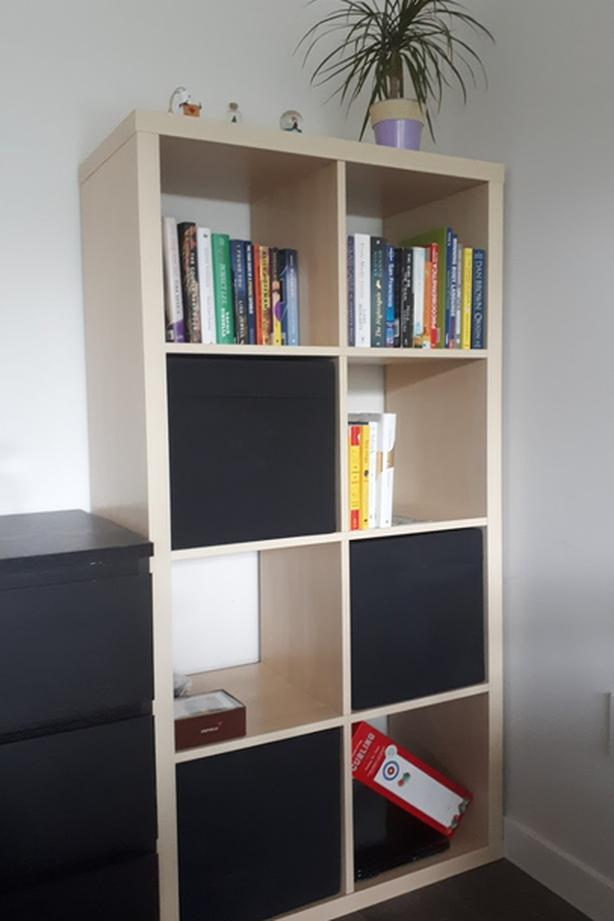 Bright, clean, like new shelf unit