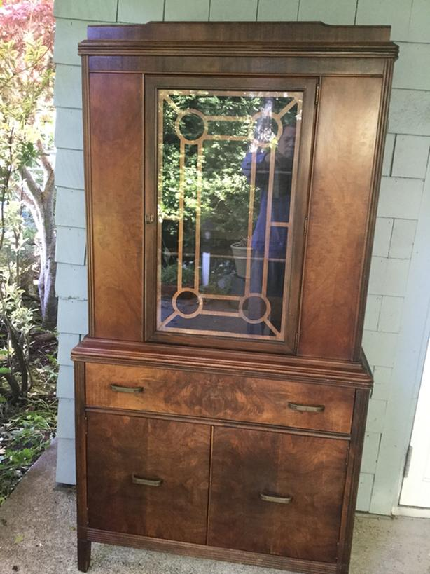 Walnut Antique Cabinet