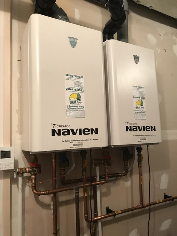 Two On-Demand Navien Hot Water Tanks - Condensing