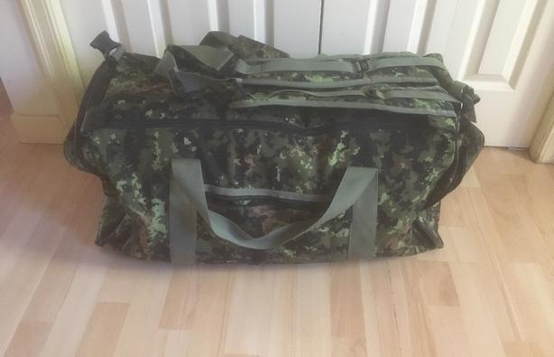 "Waterproof Camo Duffle/Backpack 110L Size 30""x15""x15"""