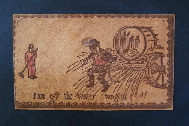 Bison leather Post Card