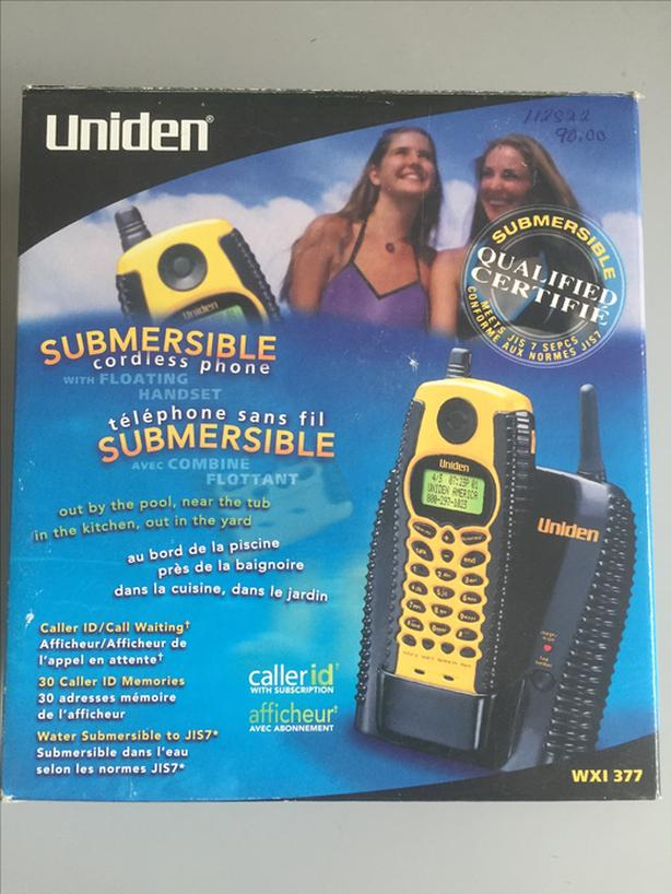 Uniden WXI 377 Submersible Cordless Phone