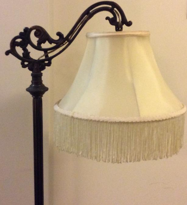 Antique Brass and Copper Bridge Lamp