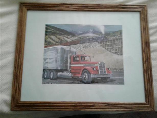 SET OF 6 PRINTS OF VINTAGE KENWORTH TRUCKS
