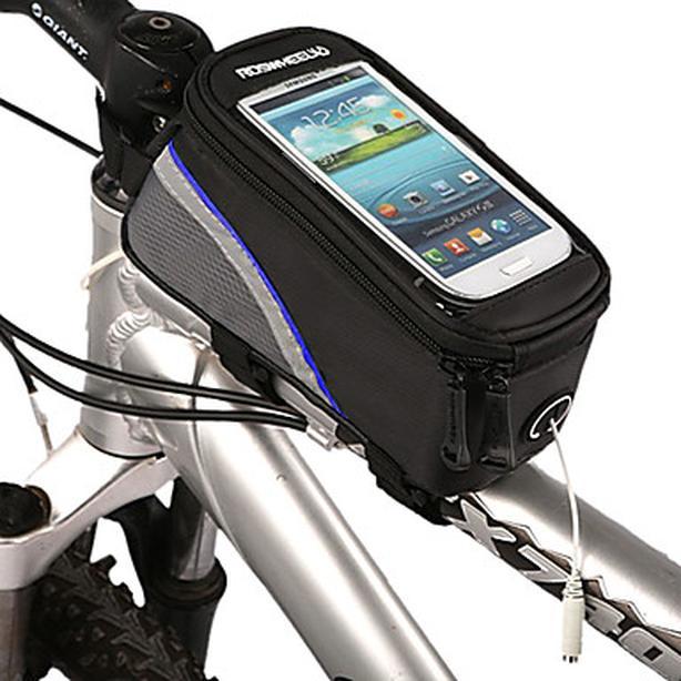 """Bicycle Bike Frame Phone Bag - 1L - 4.8"""" - Blue"""