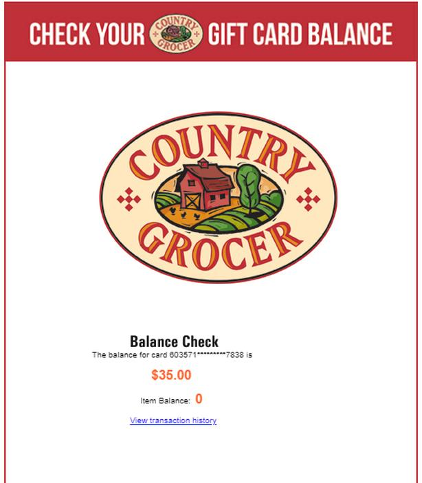 $70 worth of Country Grocer Gift Cards
