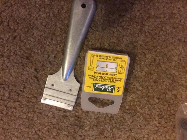 Sticker scraper Richards brand new   5 extra blades