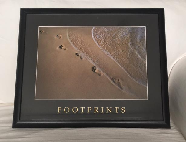 Framed 'Footprints' Photo