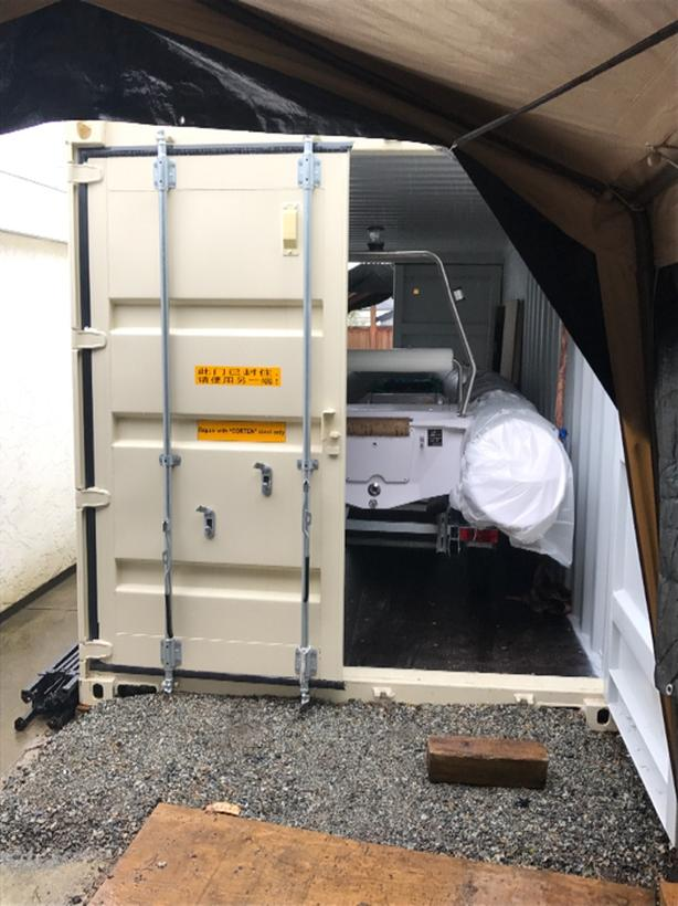 2018 one trip sea container with double doors