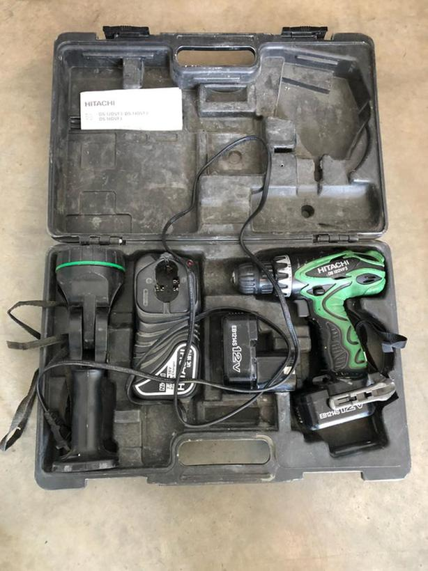 Hitachi Drill, Flash Light with Case