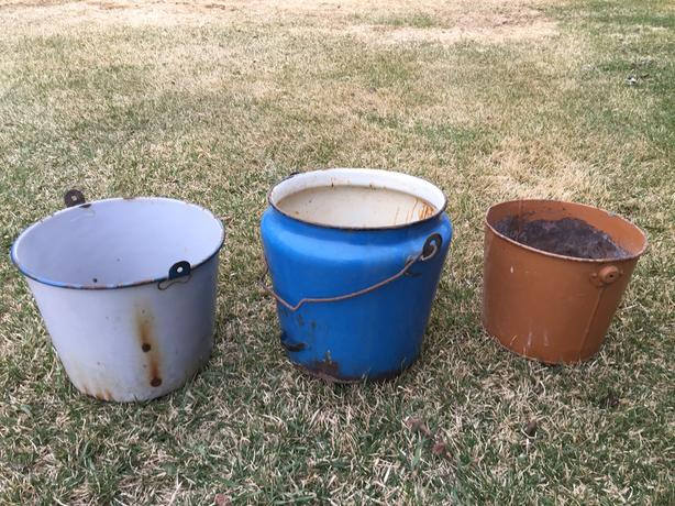 3 Well Seasoned Vintage Containers for Flower Gardens
