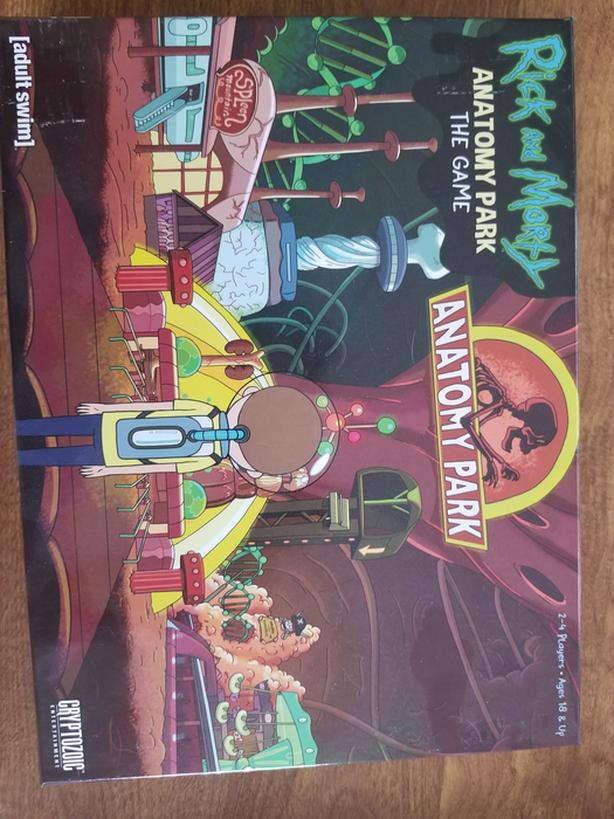 Rick and Morty Anatomy Park Board Game West Shore: Langford