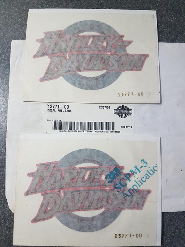  Log In needed $50 · Factory #13771-00 Harley Fuel Tank Decals