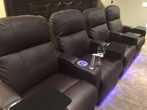 Theater Leather Recliner Chairs (set of 4 or 8)