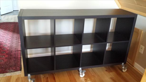 newest 3509d 2dcfc  Log In needed $80 · Ikea 8 Compartment Kallax Shelf with Casters