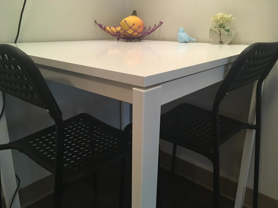 Ikea Melltorp Table And Two Black Adde Chairs Saanich Victoria