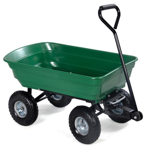 NEW 650 LBS GARDEN DUMP CART WAGON  Green in stock now!