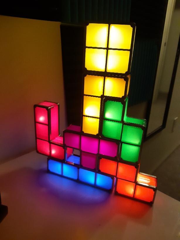 Tetris block lights Victoria City, Victoria