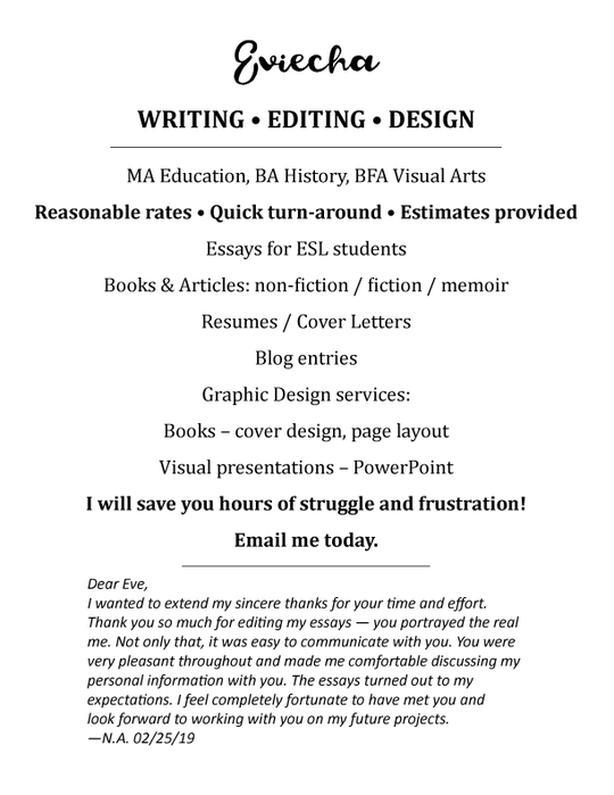 WRITING • EDITING • DESIGN