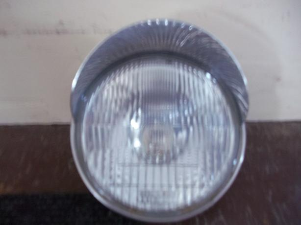 Motorcycle Headlight with Visor