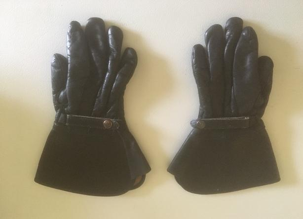 Motor Cycle Gloves, Leather - 2 Pairs For Sale