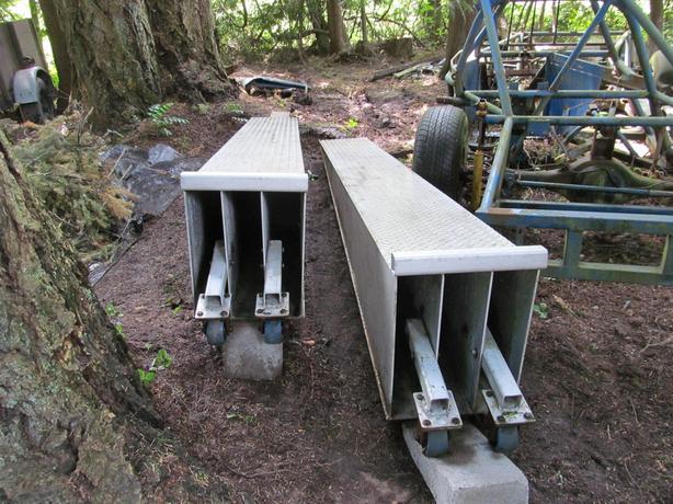 Aluminum heavy duty wheel riser ramps
