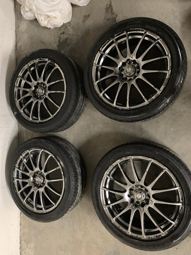 2009 Lancer Ralliart Rims and ZR18 Tires $700