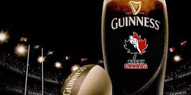 GUINNESS Rugby Canada Beer Glass