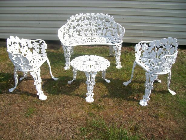 antique cast aluminum decorative garden furniture