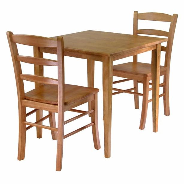 Solid wood table and 2 chairs - 10% Off