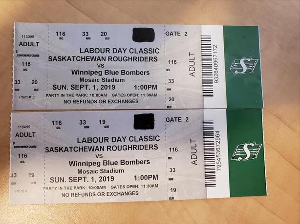 LABOUR DAY CLASSIC - PAIR OF TICKETS