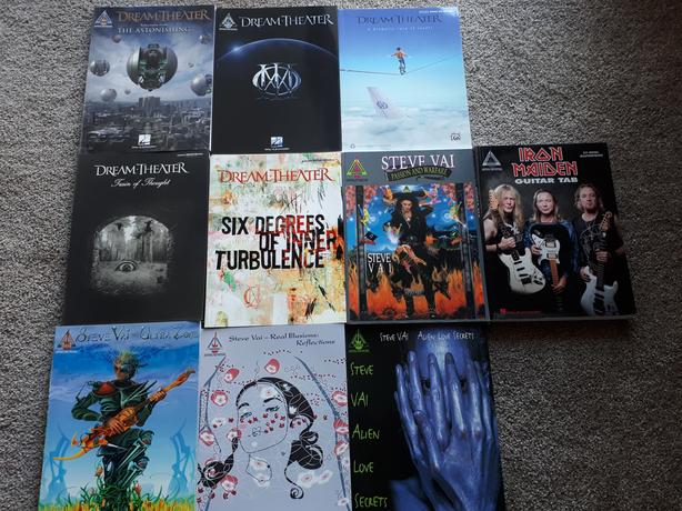 Guitar Tab Books - Dream Theater and Steve Vai