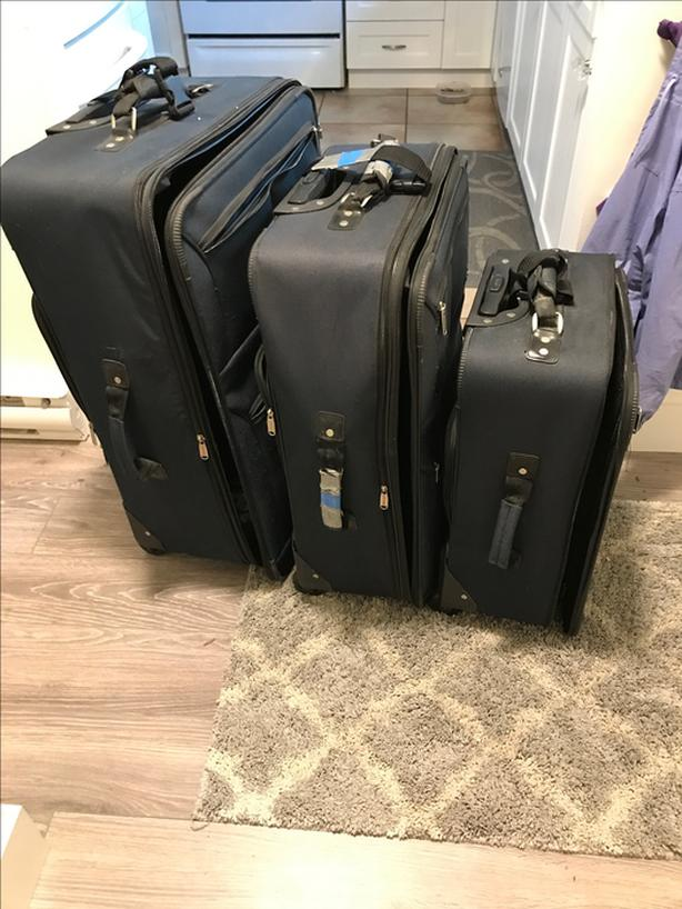 3 piece luggage set for cheap