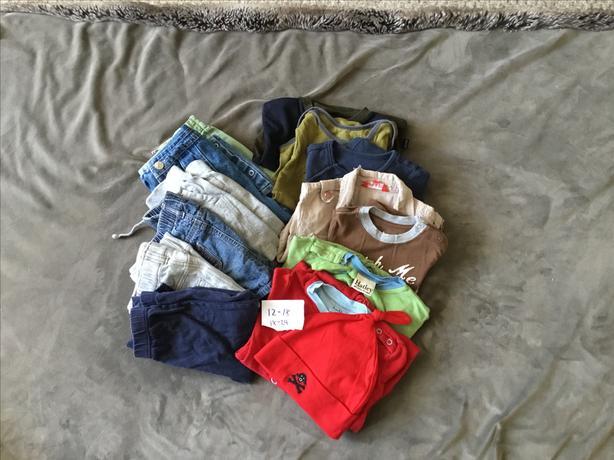 Boys clothing lot 15pcs - size 12-18M, 18-24M