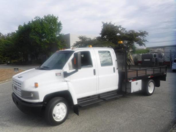2007 GMC 4500 C4E042 Crew Cab 12 Foot Flat Deck