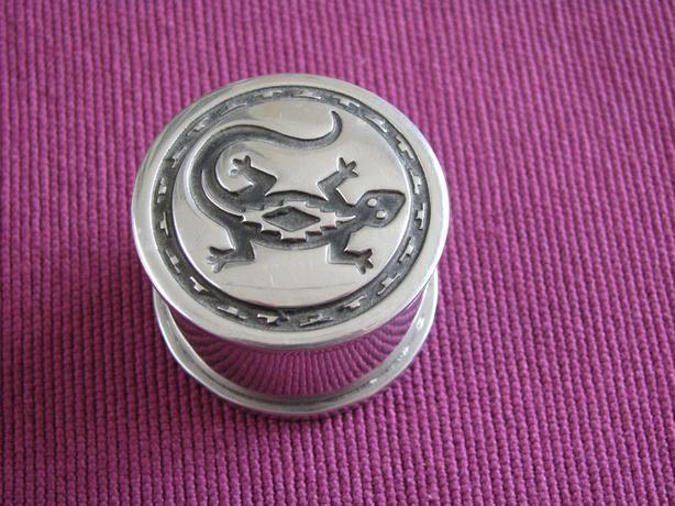 Sterling Silver Native American Vintage Trinket / Pill Box